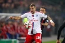 Pierre-Michel Lasogga beim Spiel HSV gegen Bayern München