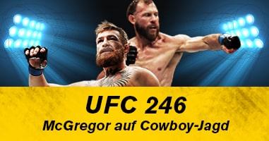 Conor McGregor – Donald Cerrone: Comeback im Octagon